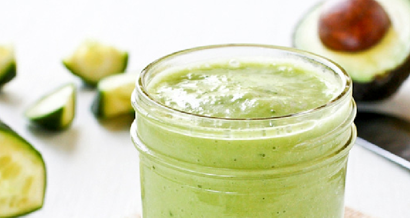 Avocado-Cucumber-and-Flaxseeds-Drinks-for-Weight-Loss-and-Clear-Skin