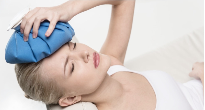 Add-Ice-Pack-on-your-head-to-Heal-Headache